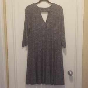 Blue Half Sleeve Torrid Dress